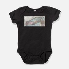 Vintage Map of Long Island (1880) Baby Bodysuit