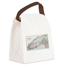 Vintage Map of Long Island (1880) Canvas Lunch Bag