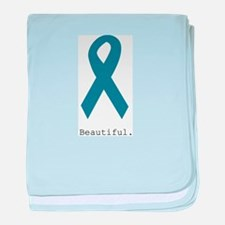 Beautiful. Teal Ribbon baby blanket