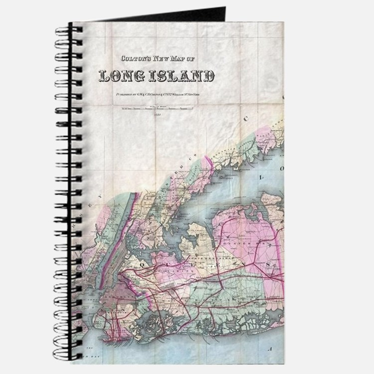 Vintage Map of Long Island (1880) Journal
