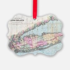 Vintage Map of Long Island (1880) Ornament
