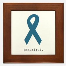 Beautiful. Teal Ribbon Framed Tile