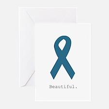 Beautiful. Teal Ribbon Greeting Cards