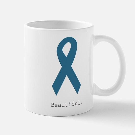 Beautiful. Teal Ribbon Mugs