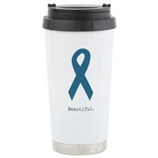 Beautiful. Teal Ribbon Travel Coffee Mug
