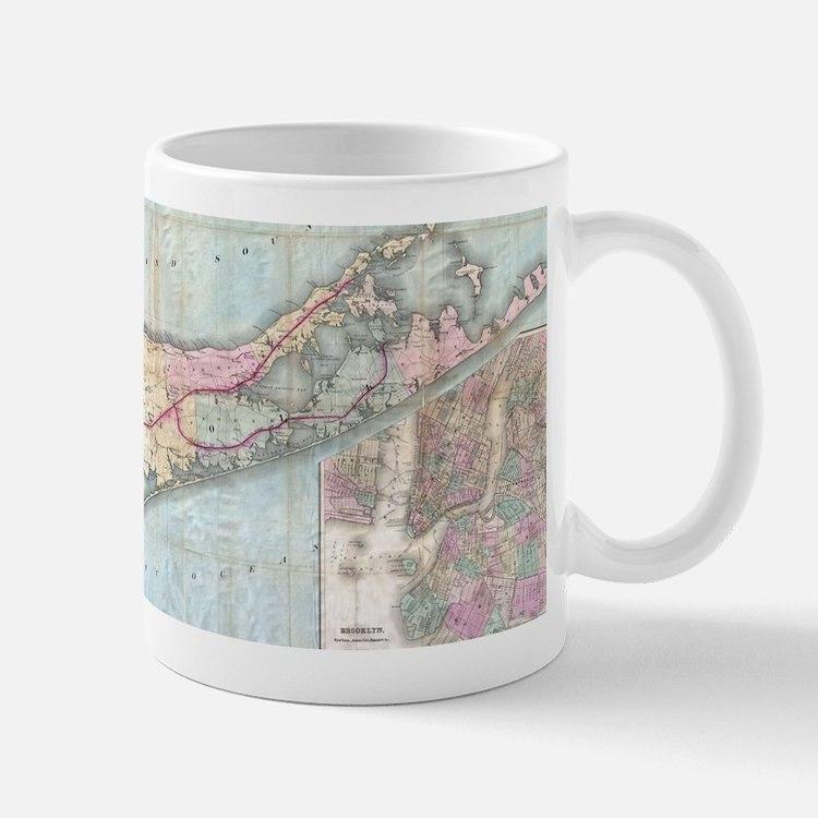 Vintage Map of Long Island (1880) Mugs