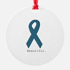 Beautiful. Teal Ribbon Ornament