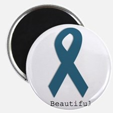 Beautiful. Teal Ribbon Magnets
