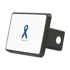 Beautiful. Teal Ribbon Hitch Cover