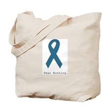 Fear Nothing. Teal Rib Tote Bag