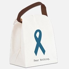 Fear Nothing. Teal Rib Canvas Lunch Bag