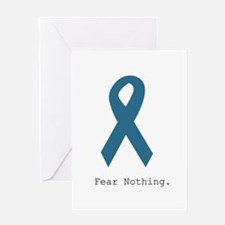 Fear Nothing. Teal Rib Greeting Cards