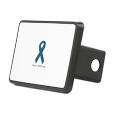 Fear Nothing. Teal Ribbon Hitch Cover