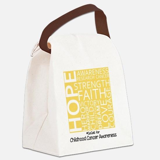 Childhood Cancer Canvas Lunch Bag