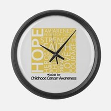 Childhood Cancer Large Wall Clock