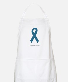 Conquer All. Teal Ribbon Apron