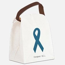 Conquer All. Teal Ribbon Canvas Lunch Bag