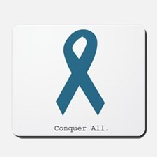 Conquer All. Teal Ribbon Mousepad