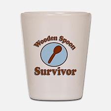 Wooden Spoon survivor. Shot Glass