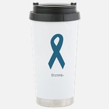 Strong. Teal Ribbon Stainless Steel Travel Mug