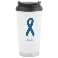 Strong. Teal Ribbon Travel Mug