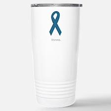 Strong. Teal Ribbon Travel Mug