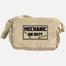 mechanic on duty Messenger Bag