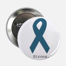 "Strong. Teal Ribbon 2.25"" Button"