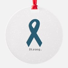 Strong. Teal Ribbon Ornament