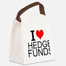 I Love Hedge Funds Canvas Lunch Bag