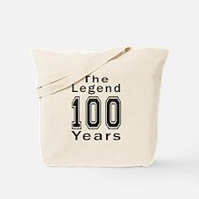 100 Legend Birthday Designs Tote Bag