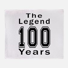 100 Legend Birthday Designs Throw Blanket