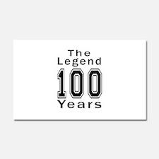 100 Legend Birthday Designs Car Magnet 20 x 12