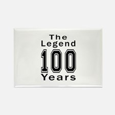 100 Legend Birthday Designs Rectangle Magnet