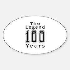 100 Legend Birthday Designs Decal