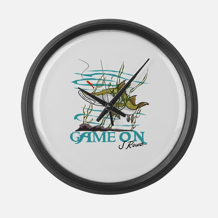 J Rowe Snook - Game On Large Wall Clock
