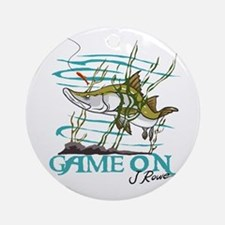 J Rowe Snook - Game On Round Ornament