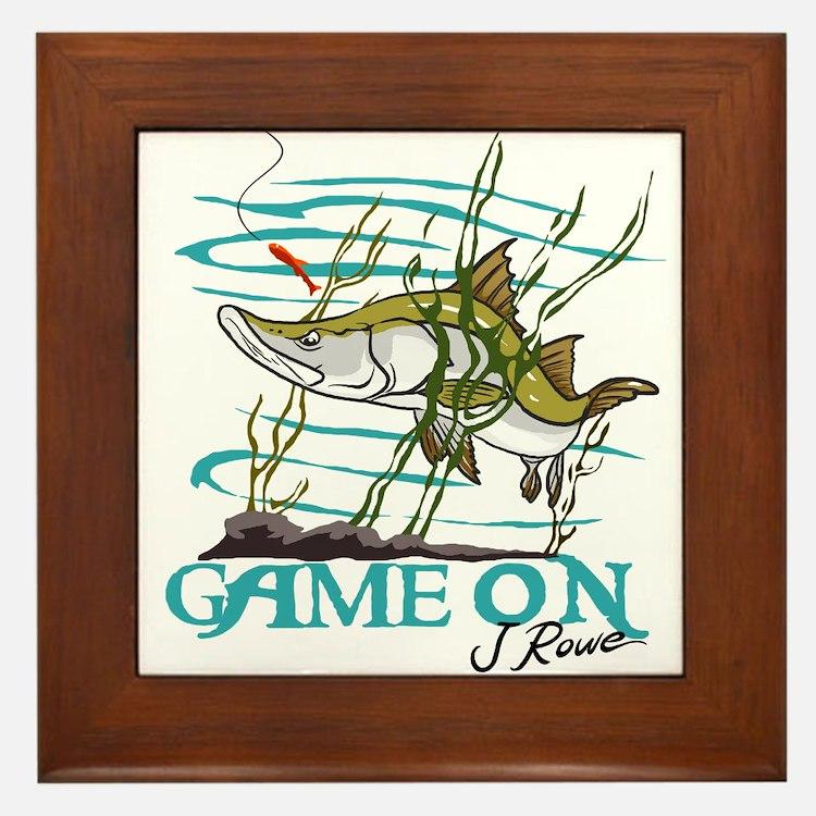 J Rowe Snook - Game On Framed Tile
