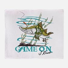 J Rowe Snook - Game On Throw Blanket