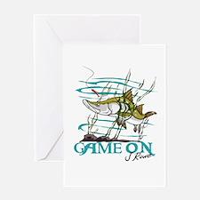 J Rowe Snook - Game On Greeting Cards
