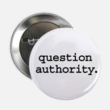 """question authority. 2.25"""" Button (10 pack)"""