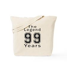 99 Legend Birthday Designs Tote Bag
