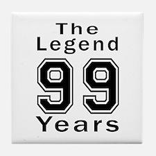 99 Legend Birthday Designs Tile Coaster