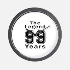 99 Legend Birthday Designs Wall Clock