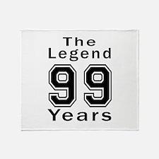 99 Legend Birthday Designs Throw Blanket