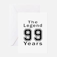 99 Legend Birthday Designs Greeting Card