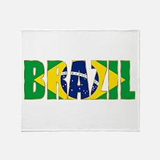 Brazil Logo Throw Blanket