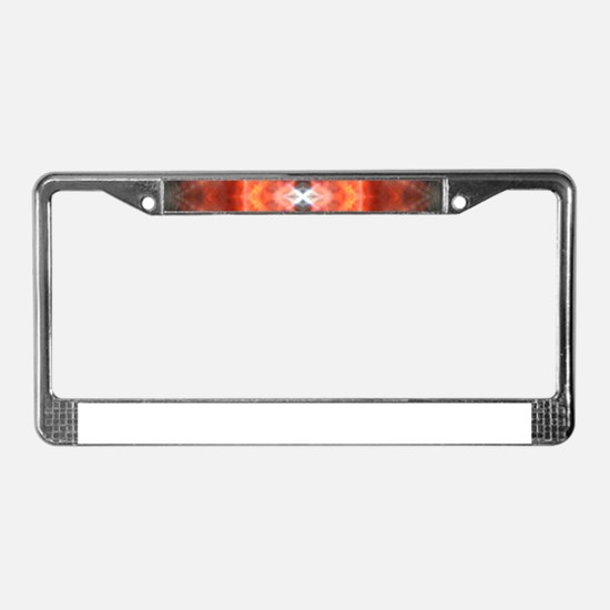 Ruby Red Vault License Plate Frame