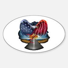 J Rowe Freedom Eagle Sticker (Oval)
