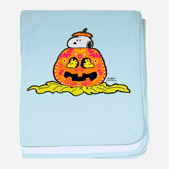Day of the Dead Snoopy Pumpkin baby blanket